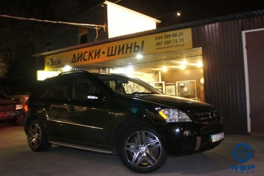 Mercedes M-Klasse (W164) WSP Italy AMG NERO (Anthracite Polished)